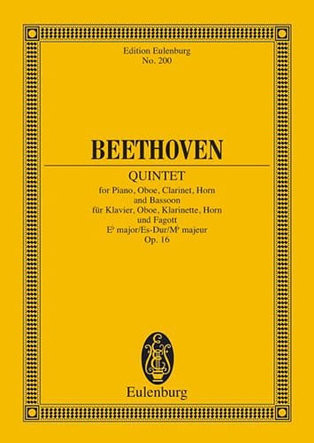 BEETHOVEN - Quintett Es-Dur, Op. 16 - Partitur - Partition - di-arezzo.co.uk