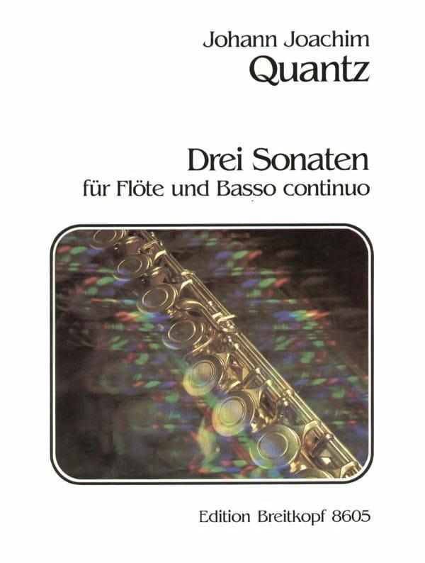 Johann Joachim Quantz - 3 Sonaten - Flöte und Bc - Partition - di-arezzo.co.uk