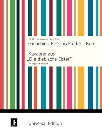 Kavatine aus Die diebische Elster -Fagott Klavier - laflutedepan.com