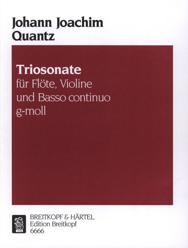 Triosonate g-moll -Flöte, VIoline u. Bc - QUANTZ - laflutedepan.com