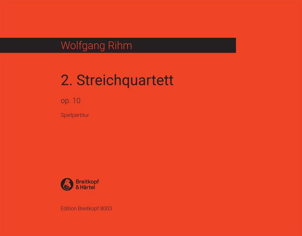 Streichquartett, Nr. 2 op. 10 - Wolfgang Rihm - laflutedepan.com