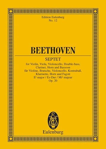 BEETHOVEN - Septuor In E B Shift, Op. 20 - Driver - Partition - di-arezzo.com