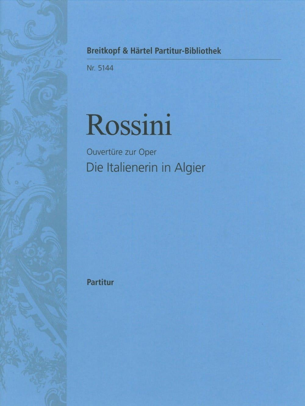 Gioachino Rossini - La italiana en Algeri - Ouvertüre - Partitur - Partition - di-arezzo.es