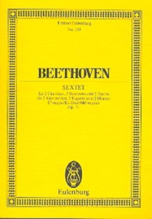 Sextett Es-Dur, Op. 71 - BEETHOVEN - Partition - laflutedepan.com