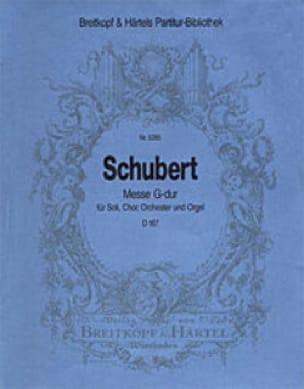 Messe G-Dur D 167 - Partitur - SCHUBERT - Partition - laflutedepan.com