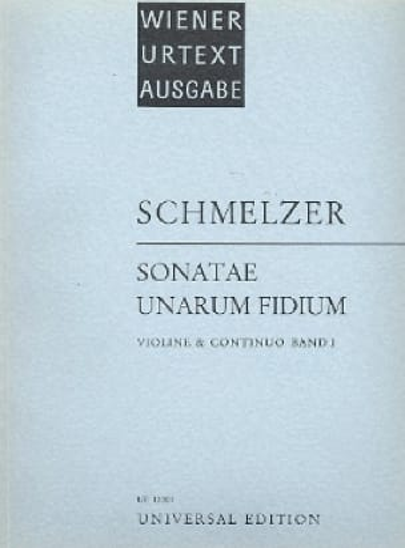 Johann Heinrich Schmelzer - Sonatae Unarum Fidium Volume 1 - Partition - di-arezzo.co.uk