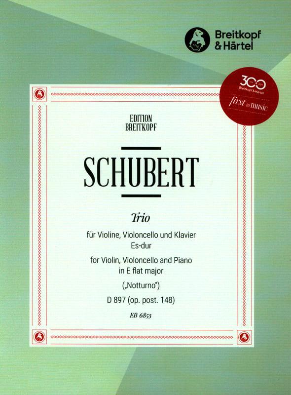 SCHUBERT - Trio Notturno Es-Dur D 897 - Partition - di-arezzo.co.uk