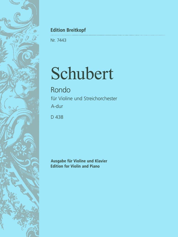 SCHUBERT - Rondo A-Dur D 438 - Violine Klavier - Partition - di-arezzo.es