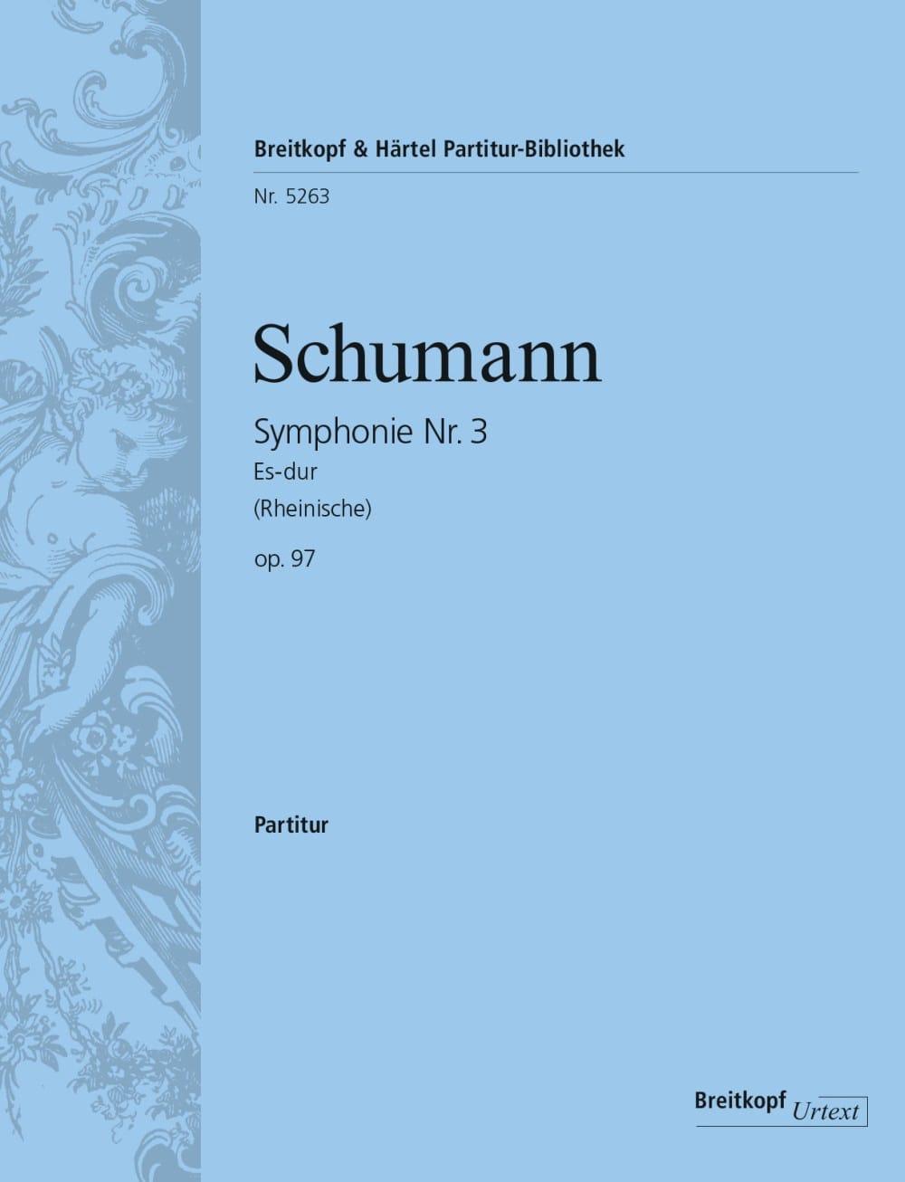 SCHUMANN - Symphony No. 3 Es-Dur op. 97 - Partitur - Partition - di-arezzo.com