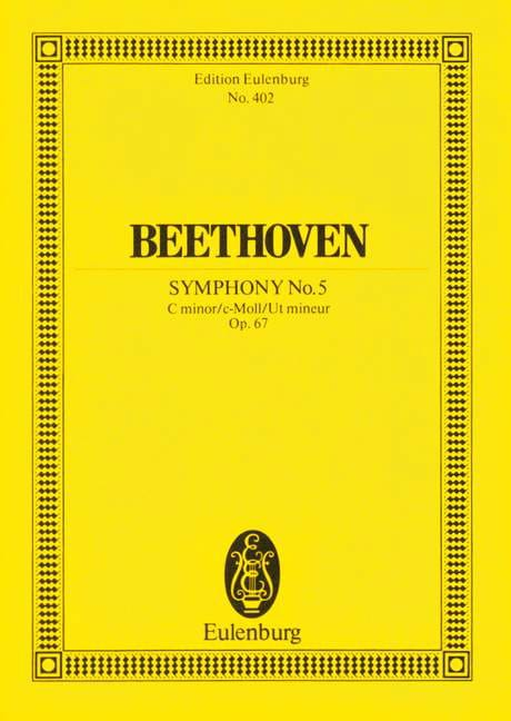 BEETHOVEN - Symphony Nr. 5 c-Moll - Partition - di-arezzo.co.uk