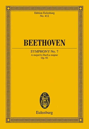 BEETHOVEN - Symphony No. 7 A-Dur - Partition - di-arezzo.co.uk