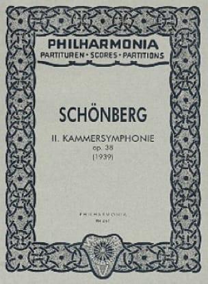 Arnold Schoenberg - Kammersymphonie Nr. 2 op. 38 - Partitur - Partition - di-arezzo.fr