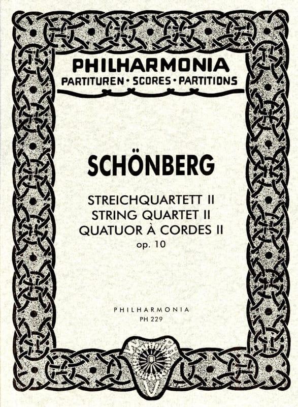 Arnold Schoenberg - Streichquartett Nr. 2 op. 10 - Partitur - Partition - di-arezzo.fr