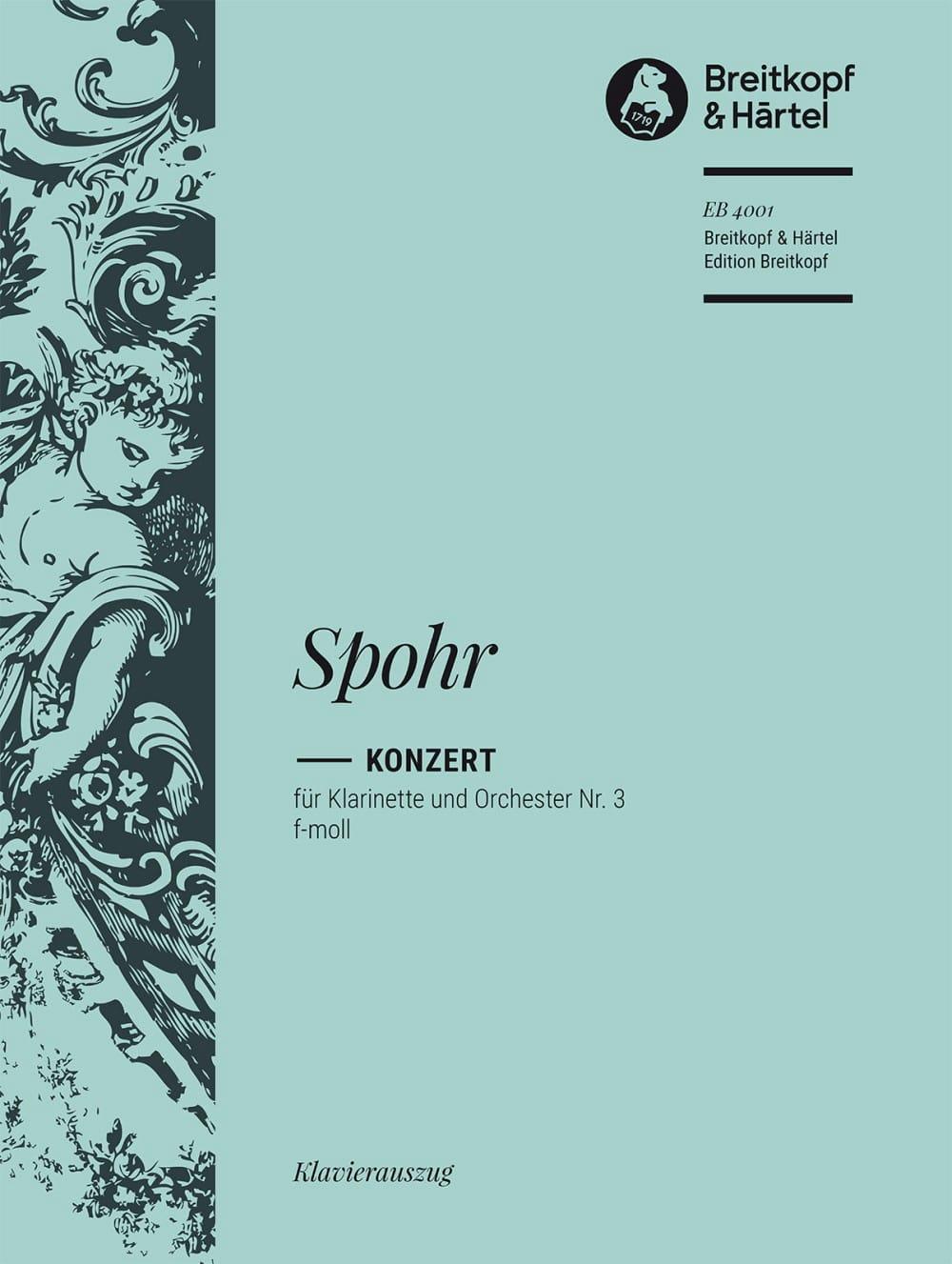 Louis Spohr - Clarinet Concerto No. 3 - Partition - di-arezzo.co.uk