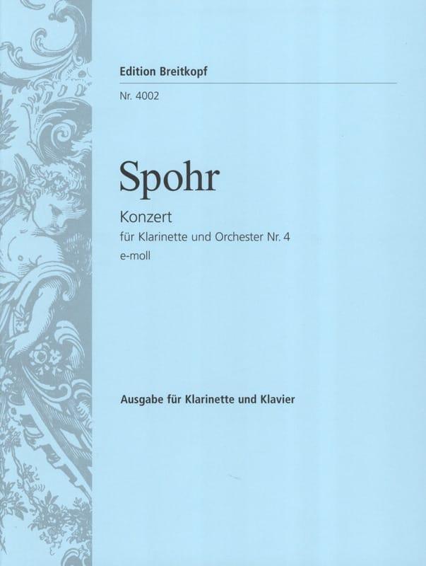 Louis Spohr - Concierto para clarinete n.º 4 en Mi menor - Partition - di-arezzo.es