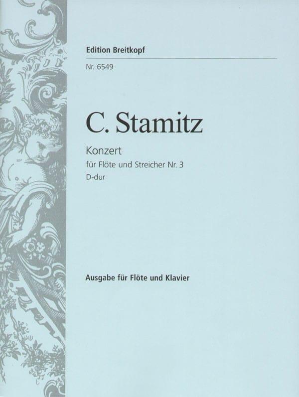 Carl Stamitz - Flötenkonzert N ° 3 D-Dur - Partition - di-arezzo.com