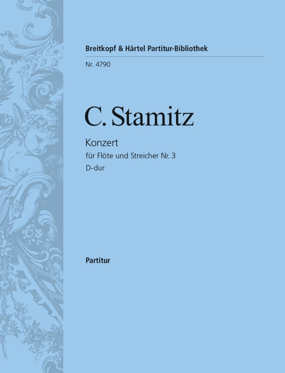 Konzert für Flöte Nr. 3 D-Dur - Partitur - STAMITZ - laflutedepan.com