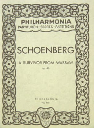 Arnold Schoenberg - A survivor from Warsaw op. 46 - Partitur - Partition - di-arezzo.co.uk