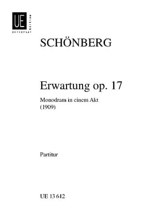Arnold Schoenberg - Erwartung op. 17 - Partitur - Partition - di-arezzo.co.uk