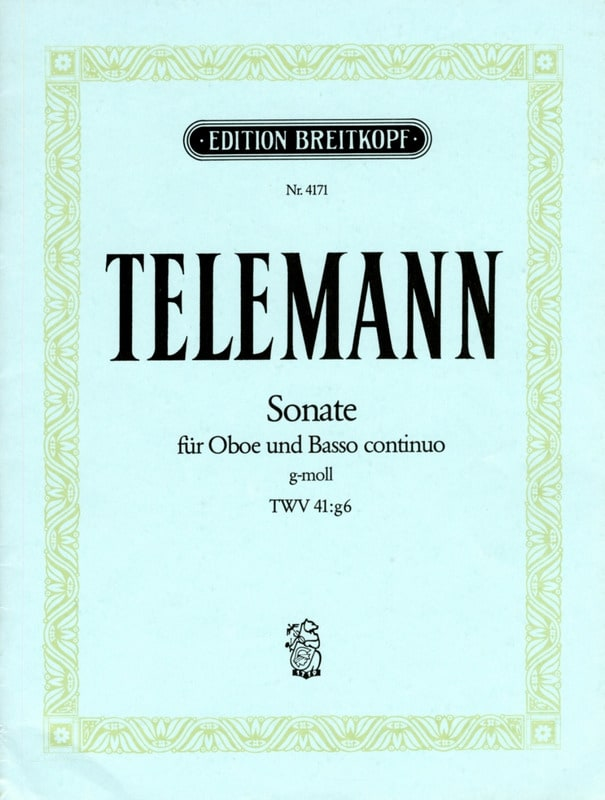 TELEMANN - Sonata Sol Minor Twv 41: g6 - Partition - di-arezzo.com