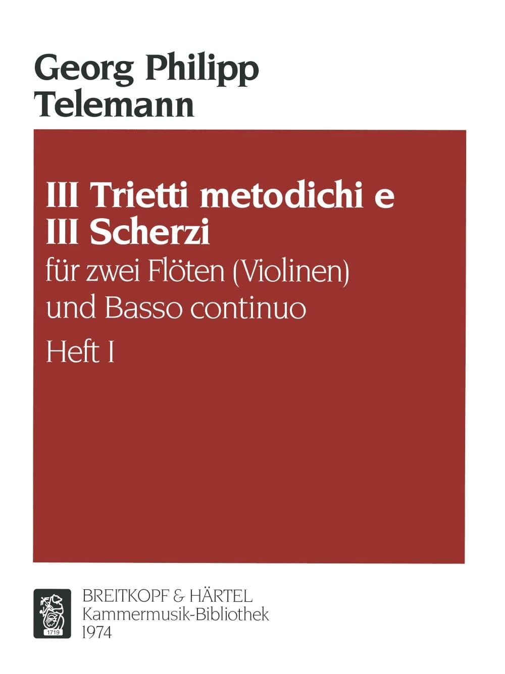 3 Trietti metodichi e Scherzi - Heft 1 -2 Flöten Violinen Bc - laflutedepan.com