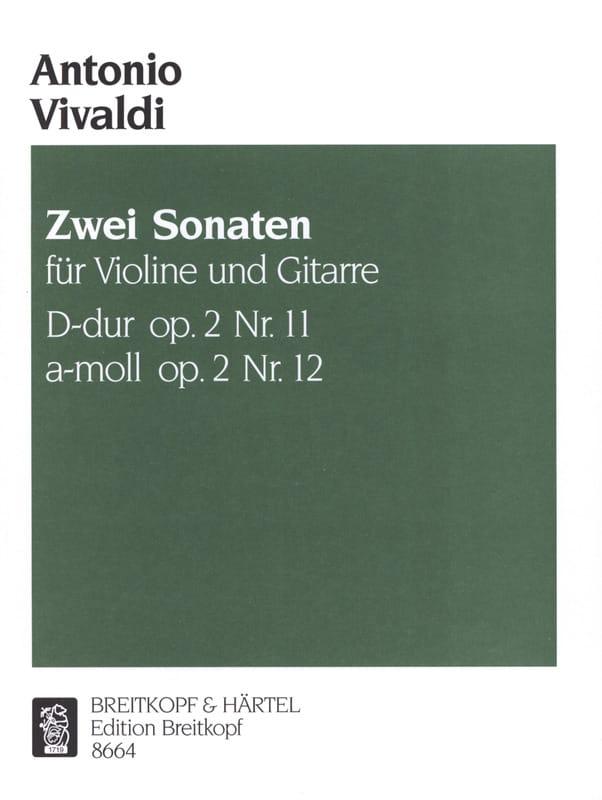 2 Sonates Op. 2 N° 11-12 - VIVALDI - Partition - 0 - laflutedepan.com