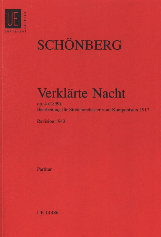 Arnold Schoenberg - Verklärte Nacht op. 4 - Streichorch. - Partitur - Partition - di-arezzo.co.uk