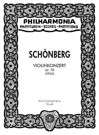 Violinkonzert op. 36 - Partitur - SCHOENBERG - laflutedepan.com