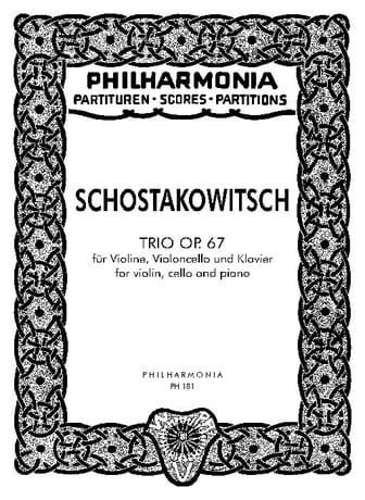 Trio op. 67 - Partitur - CHOSTAKOVITCH - Partition - laflutedepan.com