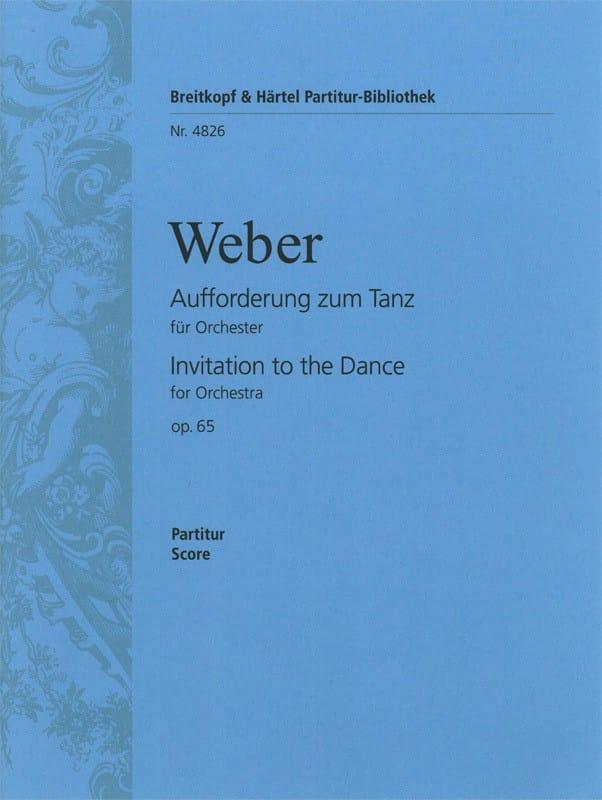 Carl Maria von Weber - Aufforderung zum Tanz - Driver - Partition - di-arezzo.co.uk