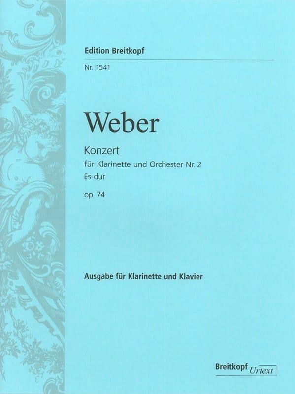 Carl Maria von Weber - Konzert für Klarinette and Orchester Nr. 2 Es-Dur op. 74 - Klarinette Klavier - Partition - di-arezzo.co.uk