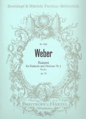 Carl Maria von Weber - Klarinettenkonzert, Nr. 2 Es-Dur op. 74 - Partitur - Partition - di-arezzo.co.uk