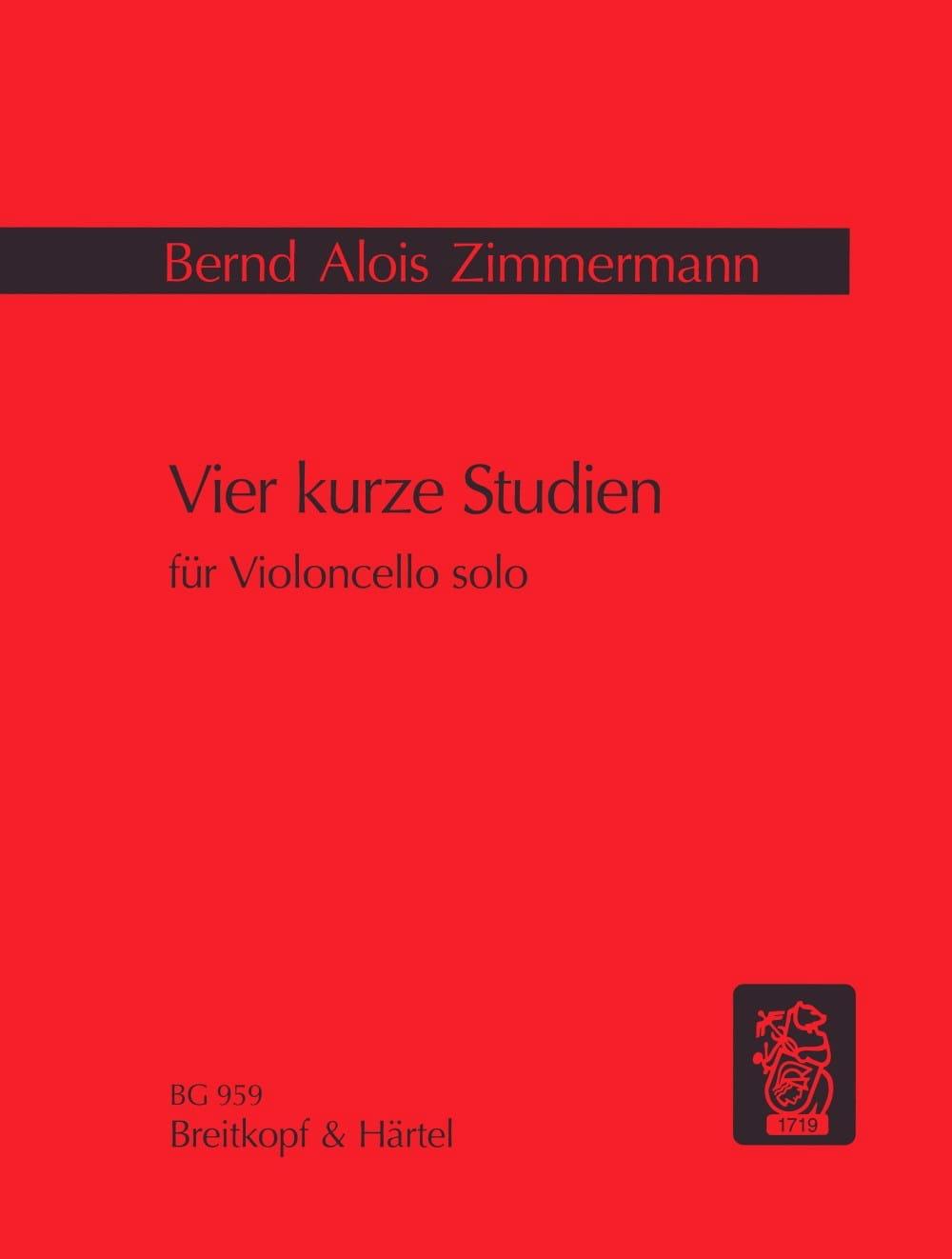 Bernd Alois Zimmermann - Vier kurze Studien - Partition - di-arezzo.co.uk