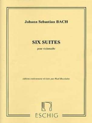 BACH - 6 suite, BWV 1007-1012 - Partition - di-arezzo.it