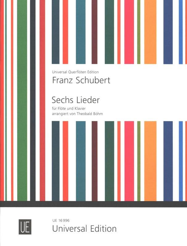 SCHUBERT - 6 Lieder - Flöte Klavier - Partition - di-arezzo.es