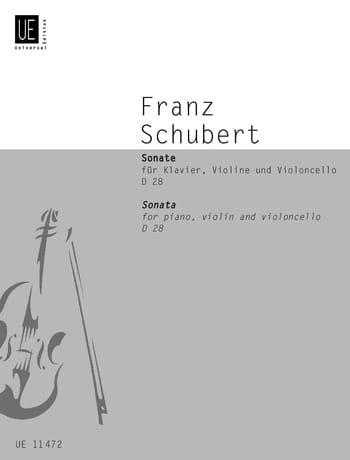 SCHUBERT - Sonata D 28 B-Dur - Partition - di-arezzo.co.uk