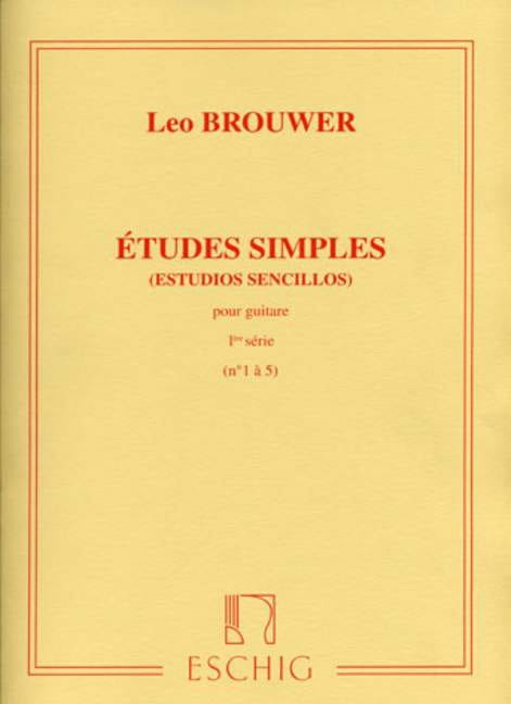 Leo Brouwer - Single Studies - 1st Series - Partition - di-arezzo.co.uk