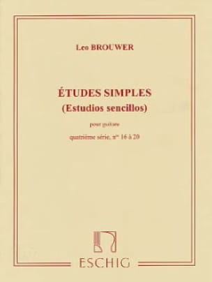 Leo Brouwer - Simple Studies - 4th Series - Partition - di-arezzo.co.uk