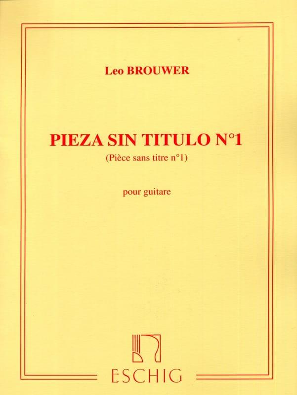 Leo Brouwer - Pieza sin título n ° 1 - Partition - di-arezzo.es