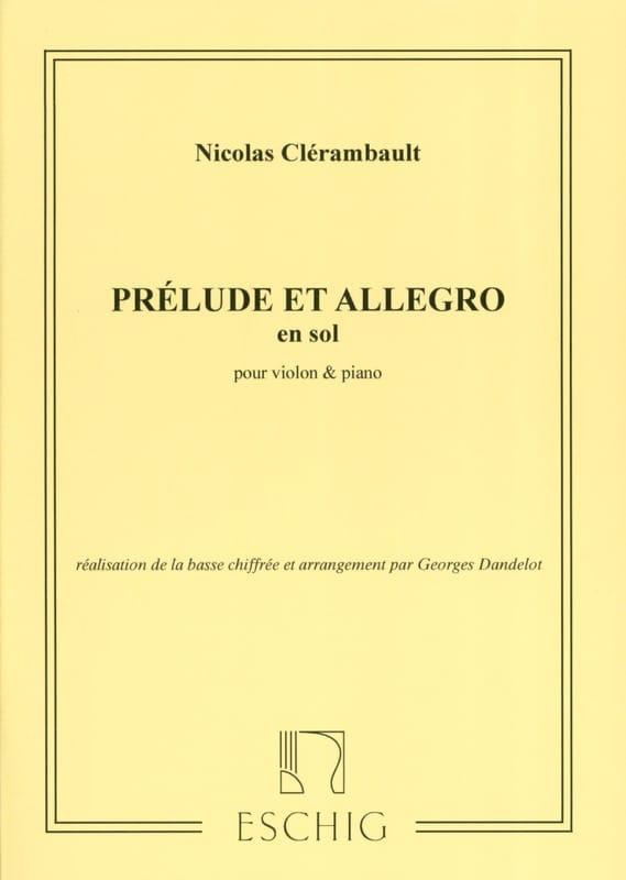 Louis Nicolas Clérambault - Prélude et Allegro en Sol Majeur - Partition - di-arezzo.fr