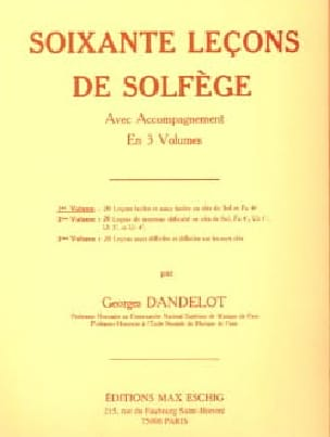 DANDELOT - 60 Solfege Lessons - Volume 1 A / A - Partition - di-arezzo.co.uk