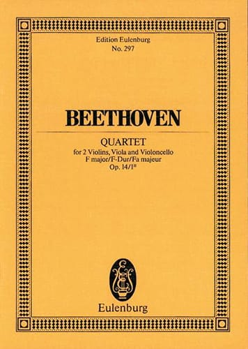 Streich-Quartett F-Dur F-Dur - BEETHOVEN - laflutedepan.com