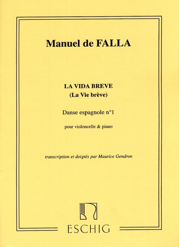 DE FALLA - Spanish Dance No. 1 Extr. The Vida breve - Partition - di-arezzo.co.uk