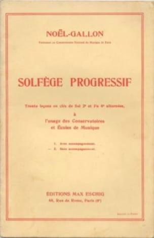 Noël Gallon - Progressive music theory 2 keys without accompaniment - Partition - di-arezzo.com
