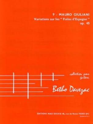 Variations sur les Folies d'Espagne op. 45 - laflutedepan.com