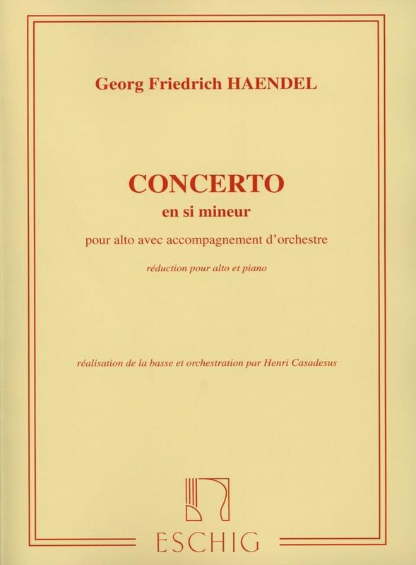 Concerto Alto en si mineur - HAENDEL - Partition - laflutedepan.com