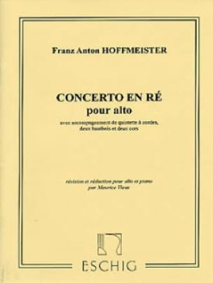 Franz Anton Hoffmeister - Altokonzert - Partition - di-arezzo.de