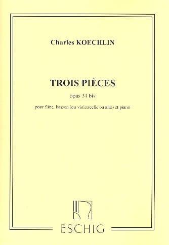 3 Pièces Op. 34 Bis - Charles Koechlin - Partition - laflutedepan.com