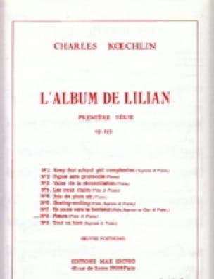Charles Koechlin - El álbum de Lilian op. 139 - No. 8: Llorando - Flauta de piano - Partition - di-arezzo.es