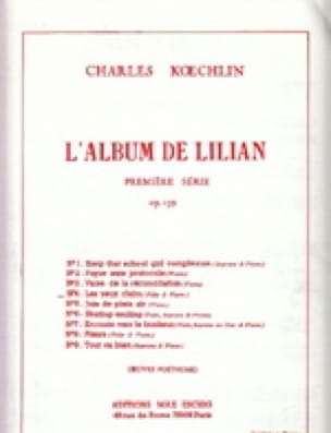 Charles Koechlin - The Lilian Album op. 139 - No. 4: ojos claros - Partition - di-arezzo.es